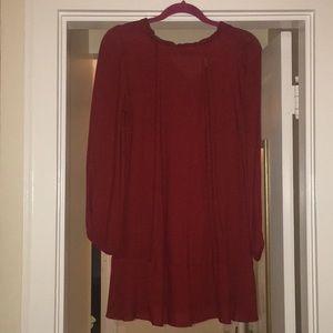 Red Drop Waist Zara Dress